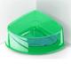 Georplast Lux Corner Big Kedi Ve Köpek Plastik Köşe Mama Ve Su Kabı Büyük - Yeşil 24,5 X 19 X 9,5(H) Cm