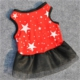 Patiland Kırmızı Yıldızlı Dantelli Kedi/Köpek Elbisesi