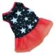 Patiland Siyah Yıldızlı Dantelli Kedi/Köpek Elbisesi