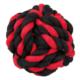 İp Sargı Top Köpek Oyuncağı (Siyah/Kırmızı) 7,5 Cm
