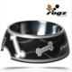 Rogz Siyah Kemik Desenli Melamin/Çelik Kedi Köpek Mama Kabı Small 160 Ml