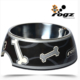 Rogz Siyah Kemik Desenli Melamin/Çelik Köpek Mama Kabı Medium 350 Ml