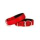 Doggie Dokuma Softlu Sade Boyun Tasması Kırmızı 3,0 X 55 cm