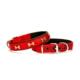 Doggie Kemik Metal Süslü Dokuma Softlu Boyun Tasması Kırmızı 2,0 X 40 cm