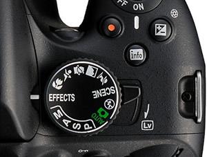 Mod kadranı, canlı izleme düğmesi görseli(leri)