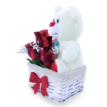 Doğum Günü Hediyeleri Dileğin Gerçek Olsun Ayıcıklı çiçek Fiyatı