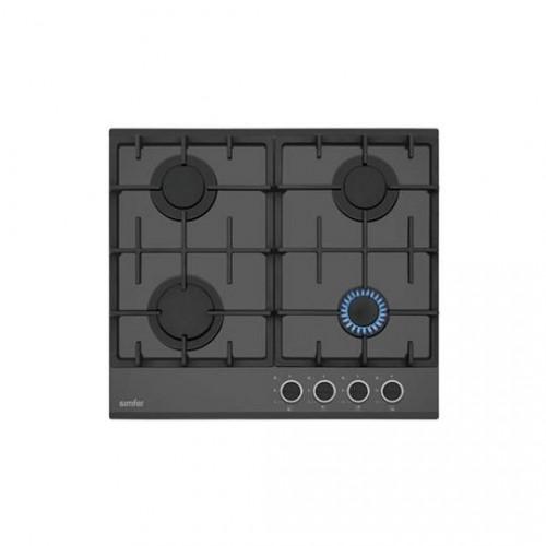 Simfer 3515 Securit Black Trend 4 Gözlü Gaz Emniyetli Cam Ankastre Ocak