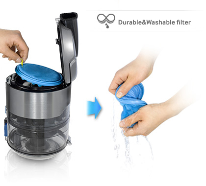 Temizlemesi kolay yıkanabilir filtre