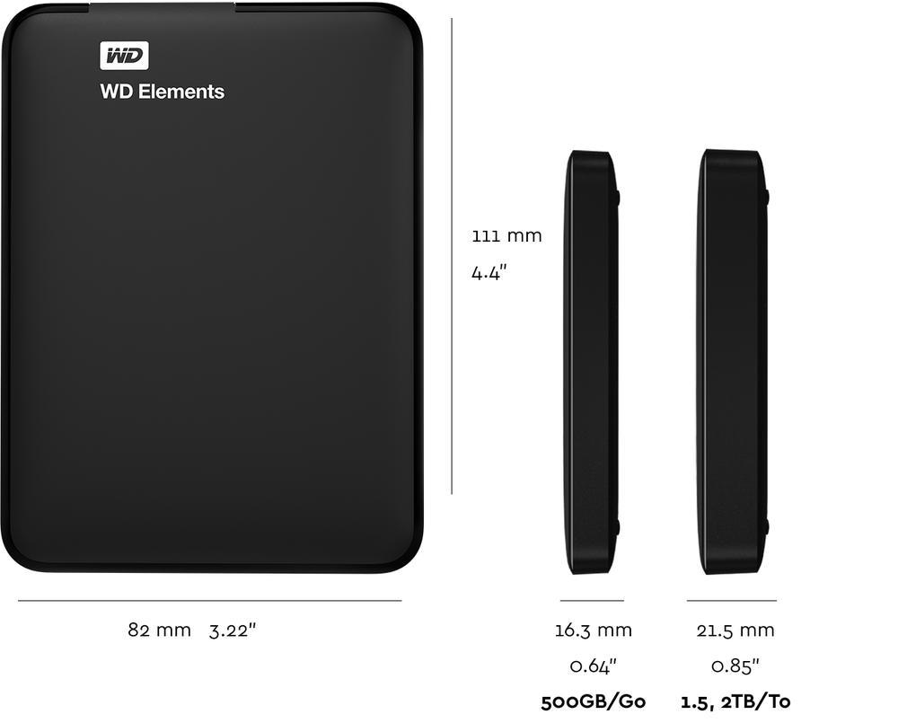 WD Elements Portable | Teknik Özellikler