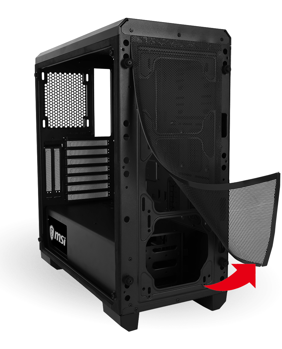 MSI MAG PYLON CASE Dust Filters Front