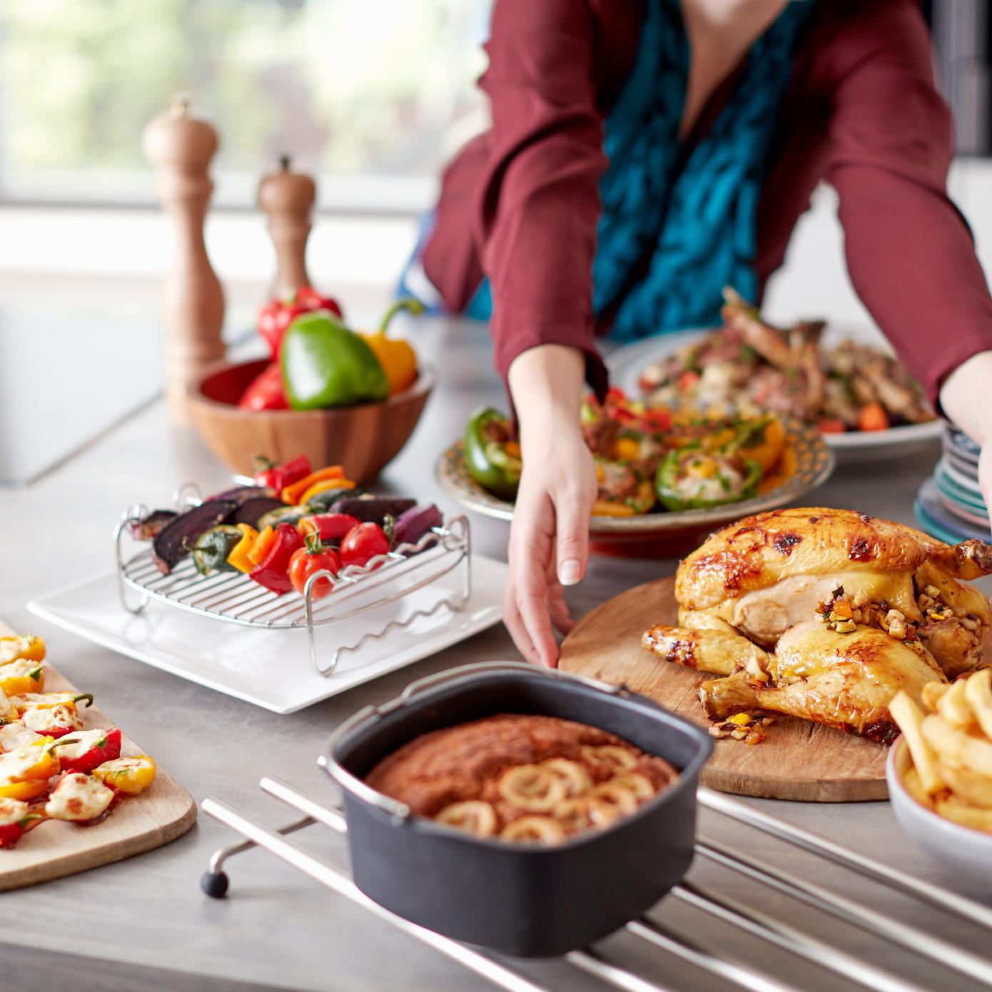 En sevdiğiniz yiyecekleri evde kızartın, pişirin ve ızgara yapın