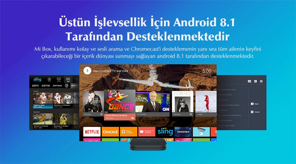 Xiaomi Mi Box S 4K Android TV Box Media Player HDR - Dolby Fiyatı