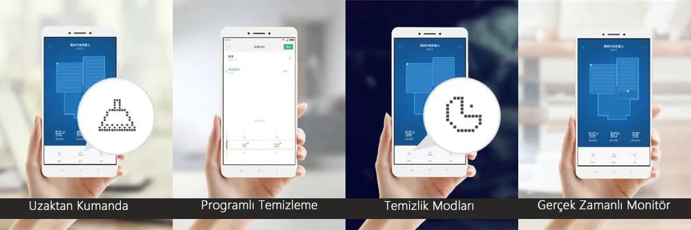 Orijinal Xiaomi Mi Akıllı Robot Süpürge- Beyaz Xiaomi