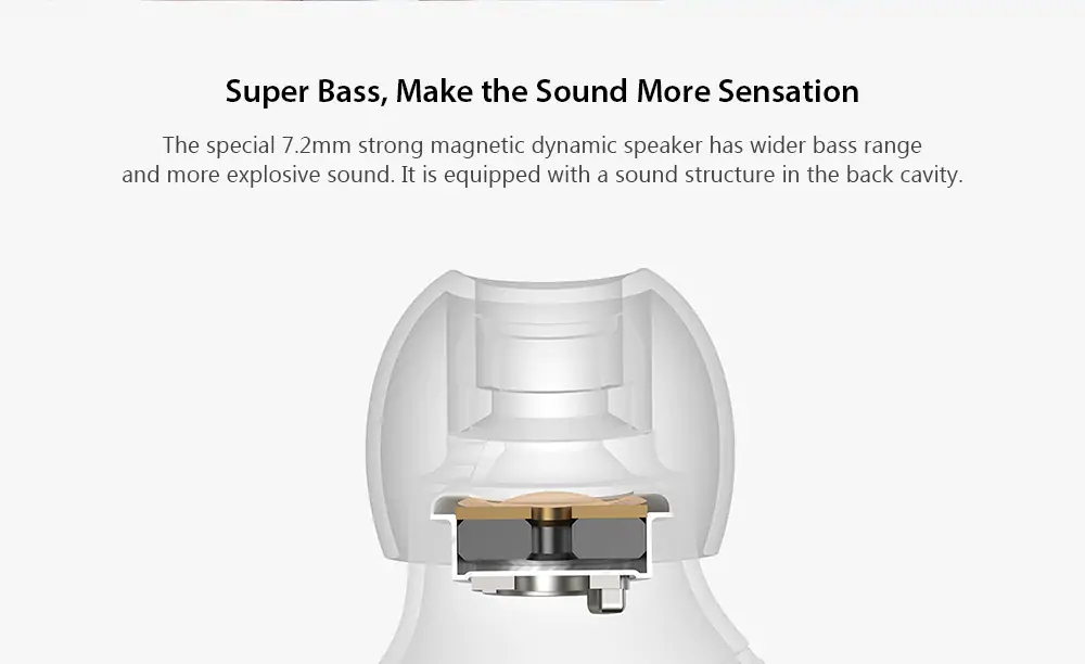 Xiaomi Airdots TWS Wireless Bluetooth 5.0 In-ear EarphoneTouch Control with Charging Box - White