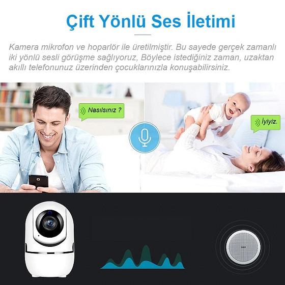 Triline IPC12 Mini Ip Kamera 1mp Hd Wifi Hareketli