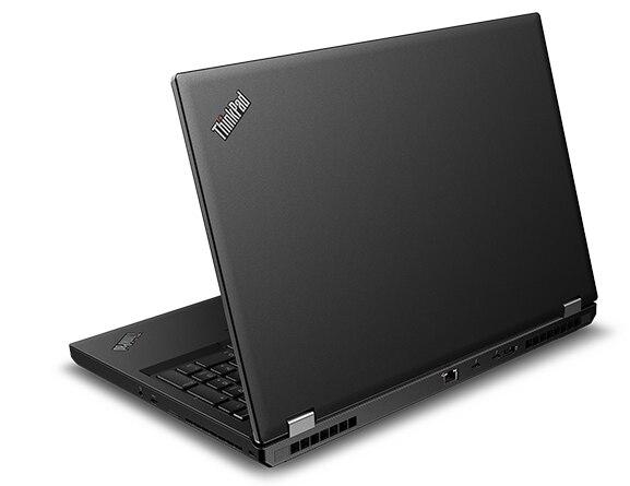 Back angle view of the Lenovo ThinkPad P53 laptop