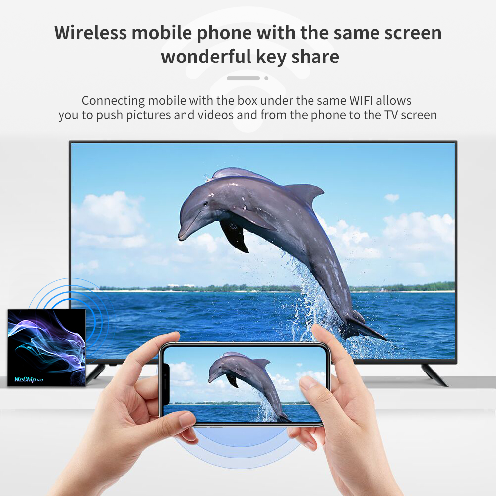 Private mould wechip v10 android 10.0 tv box cheap android media player