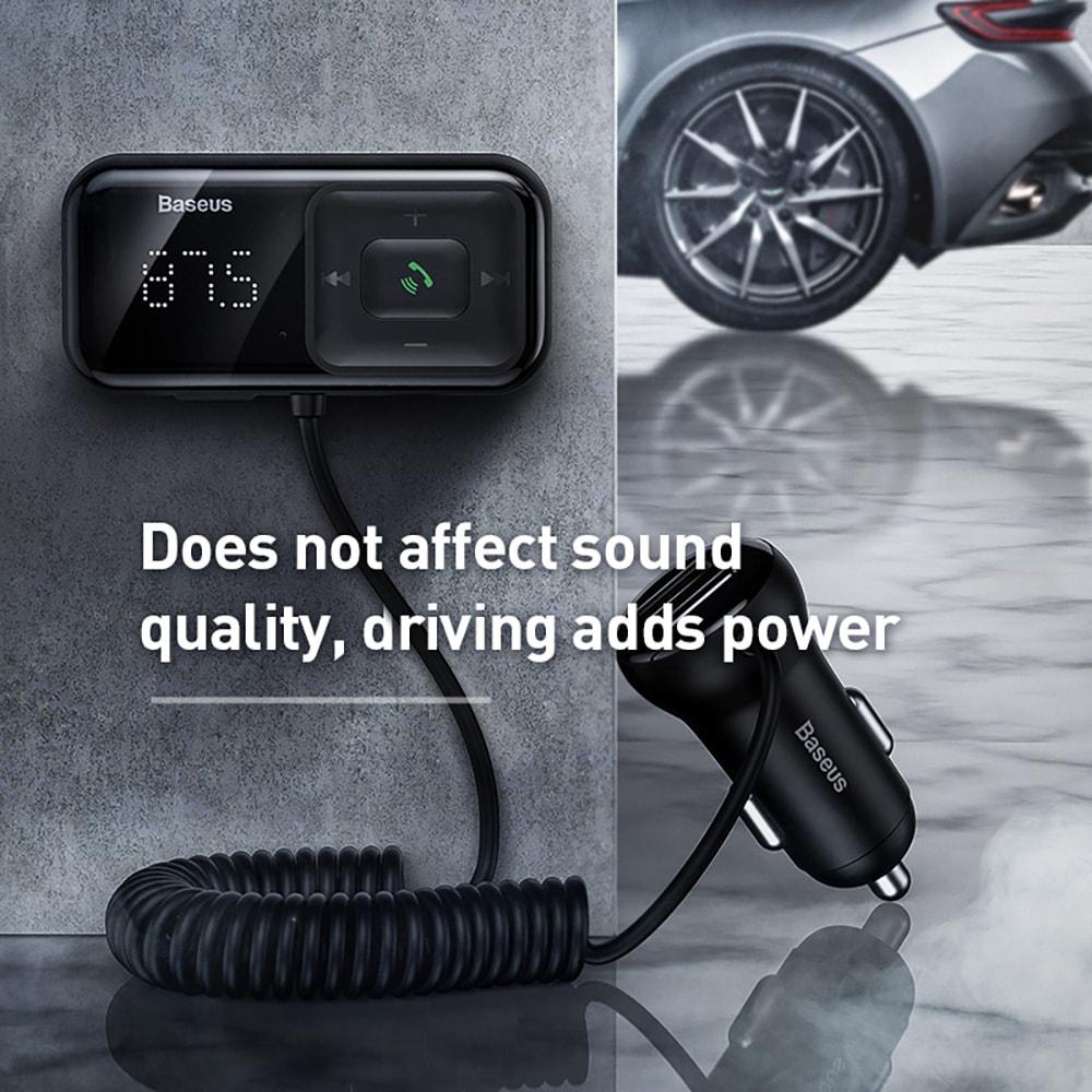 Baseus CCTM-E01 Car MP3 FM Transmitter - Black