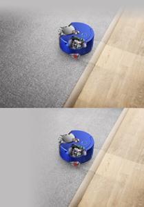 Halıyı temizlerken Dyson 360 Heurist robot süpürgesine bir bakış