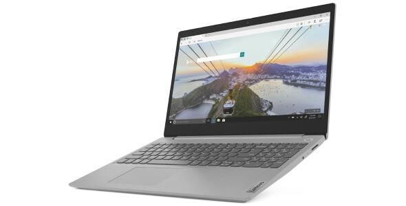 "Lenovo IdeaPad 3 (15"", AMD) laptop, left angle view, open"