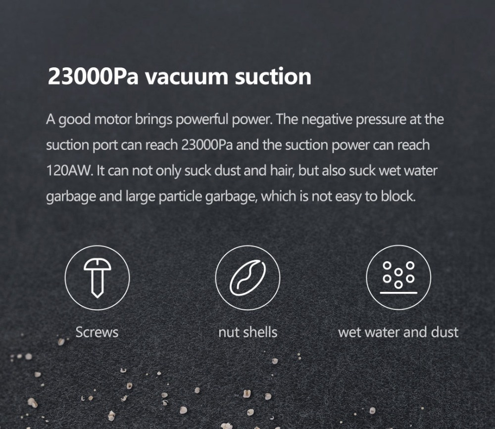 VIOMI A9 Handheld Wireless Vacuum Cleaner Front LED Light 23KPa Portable Cordless floor Carpet Dust Collector, Removable battery 5