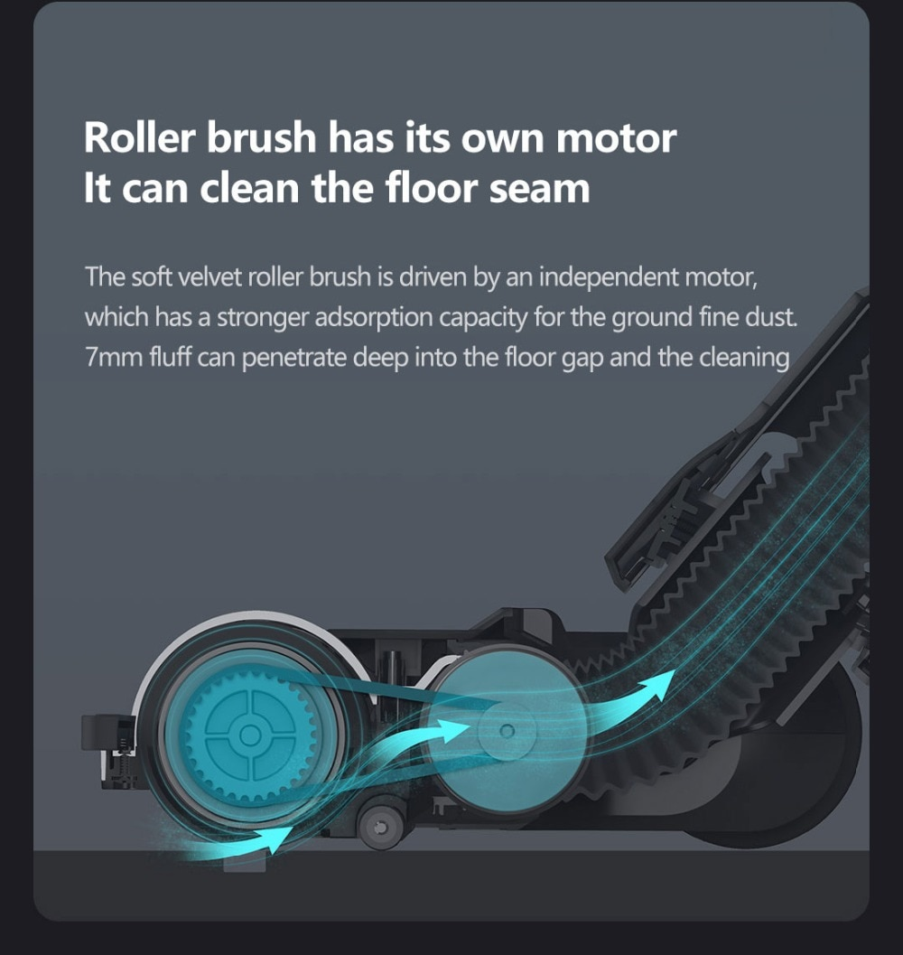 VIOMI A9 Handheld Wireless Vacuum Cleaner Front LED Light 23KPa Portable Cordless floor Carpet Dust Collector, Removable battery 14