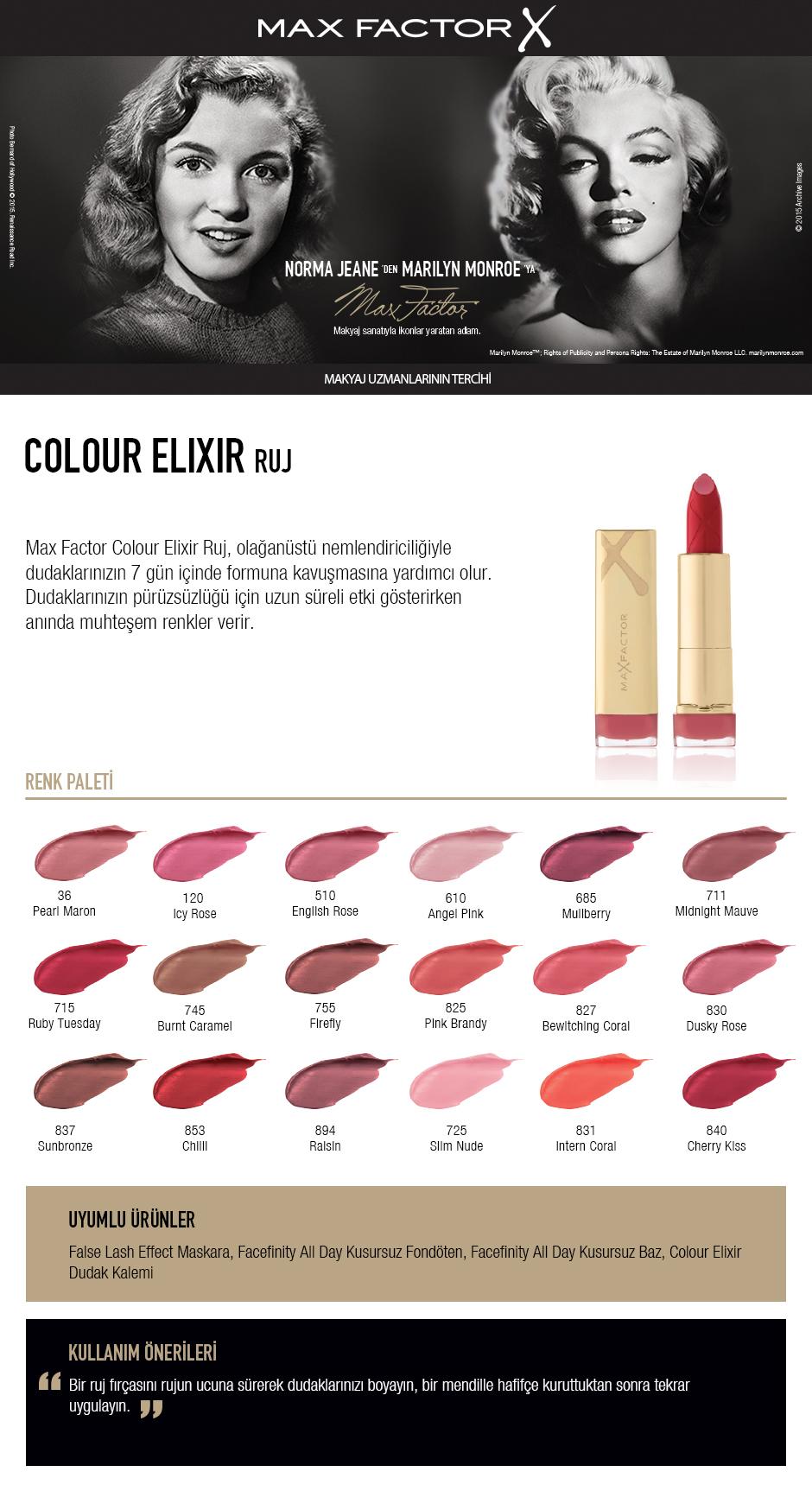 Max Factor Colour Elixir Ruj 830 Dusky Rose Fiyatı