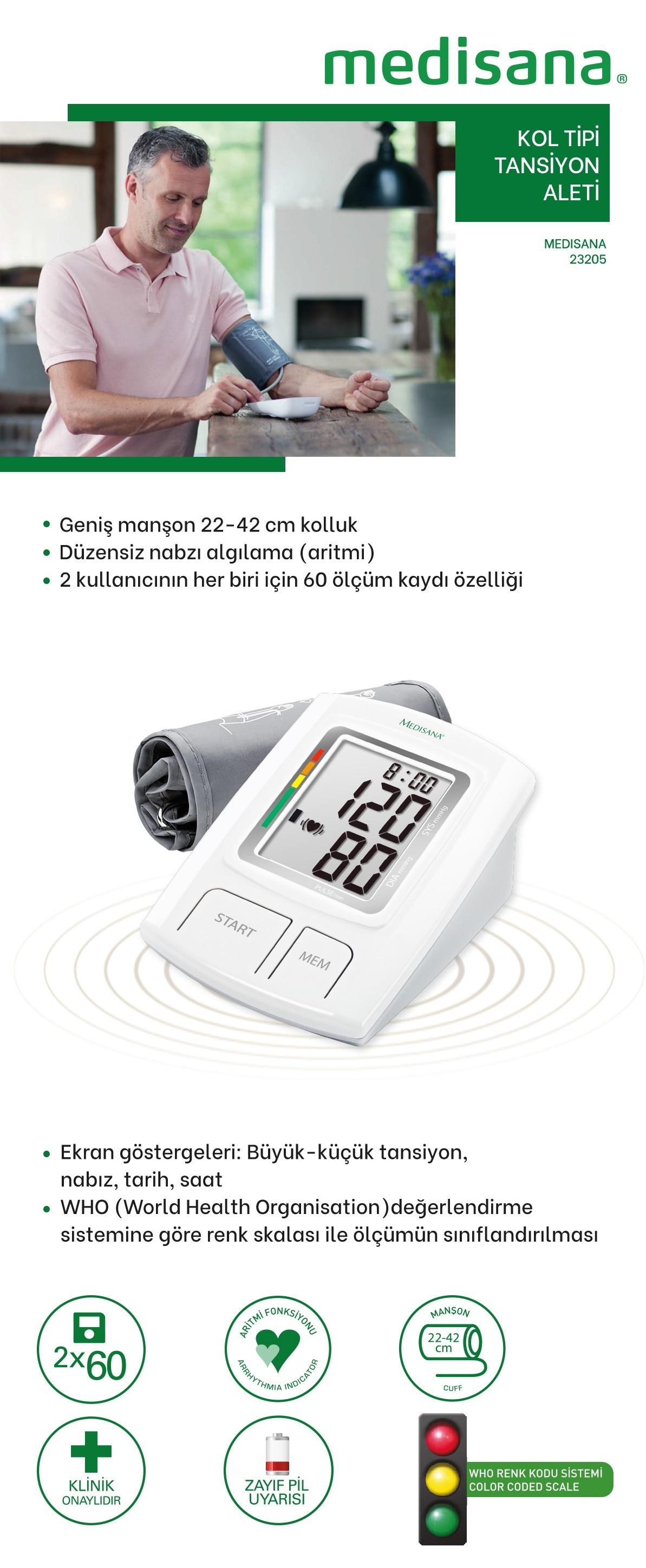 Medisana 23205 Kol Tipi Digital Tansiyon Aleti Fiyati