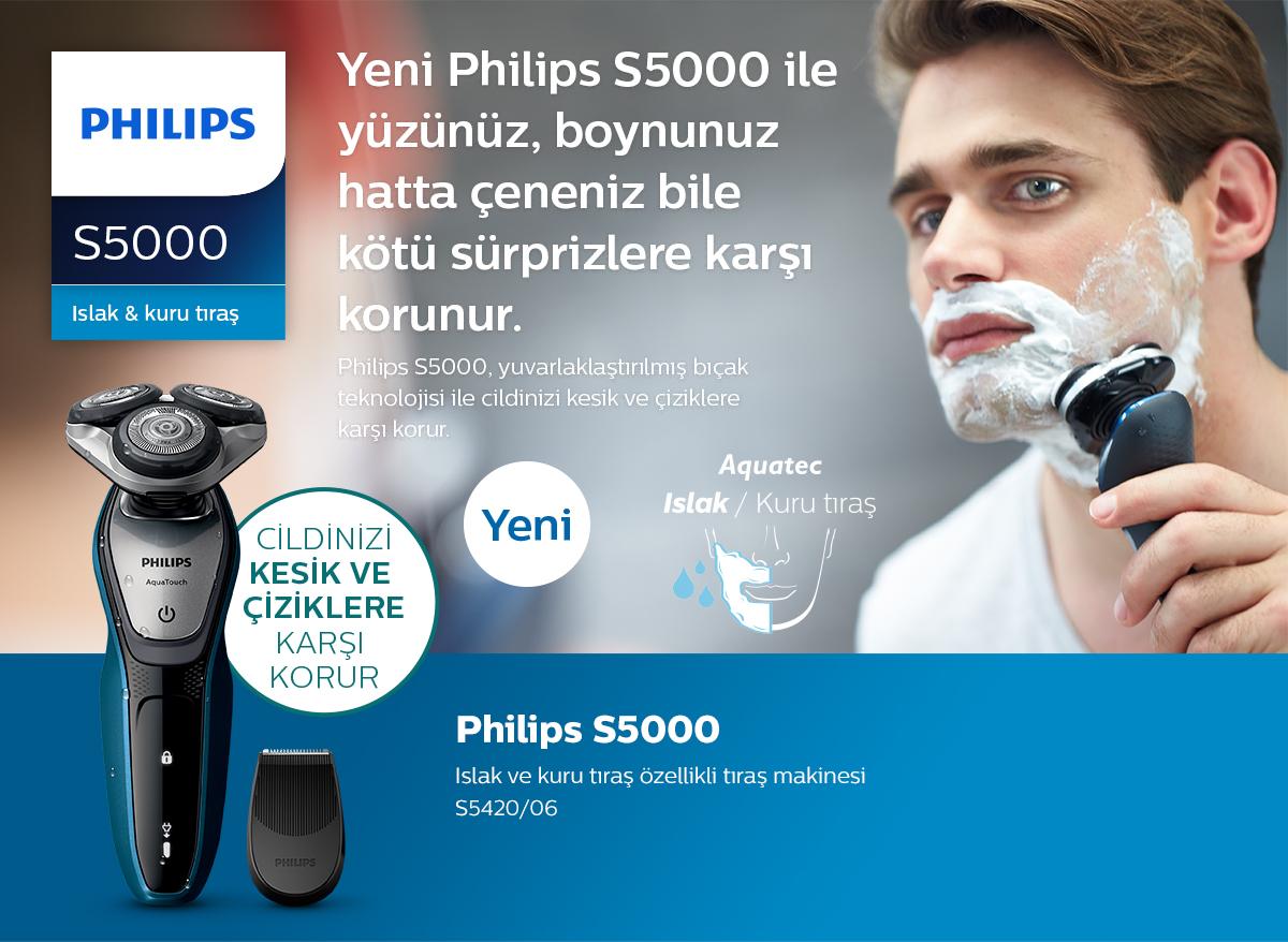 Philips AquaTouch Islak ve kuru tıraş özellikli tıraş makinesi S5050/04