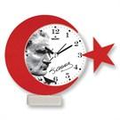 Galaxy Ay Yıldız Atatürk Portre Masa Saati
