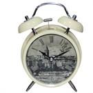 Galaxy Alarmlı Vintage Metal Masa Saati 2035-6