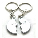 Ozel kutulu 2'li Love (He-She) Mıknatıslı Celik Anahtarlık