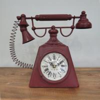 N'crea Home Kırmızı Telefon Masa Saati