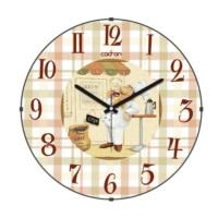 Cadran Mutfak Bombeli Cam Duvar Saati Ekose Aşçı 180-13