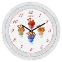 Cadran Dekoratif Vintage Duvar Saati Çatlak Desen Ice Cup 1108-70