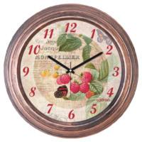 Cadran Dekoratif Vintage Duvar Saati Bakır Frambuaz 1108-65