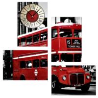 Tictac Design 4 Parça Tablo Saat London