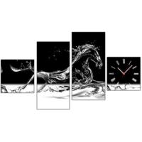 Tictac Design 4 Parça Tablo Saat Atlar