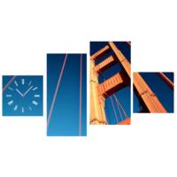 Tictac Design 4 Parça Tablo Saat Golden Gate