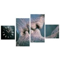 Tictac Design 4 Parça Tablo Saat Kiss
