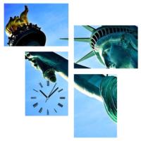 Tictac Design 4 Parça Tablo Saat Özgürlük Anıtı