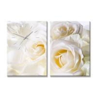 Artmodel Flowers 2 Parçalı Kanvas Tablo Saat