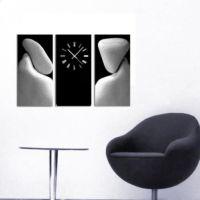 Tictac Design 3 Parça Tablo Saat Taşlar