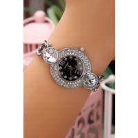Gümüş Parlak Taşlı Bayan Saat