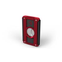 HF Kırmızı Siyah Karbon Renk Çelik Puro Makası hs65