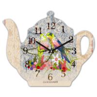 Clockmaker 30x25 MDF Demlik Duvar Saati CMM204