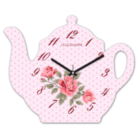 Clockmaker 30x25 MDF Demlik Duvar Saati CMM208