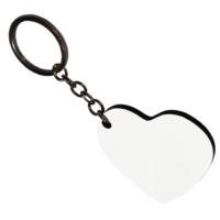 Bk HDF Tek Taraflı Kalp Anahtarlık
