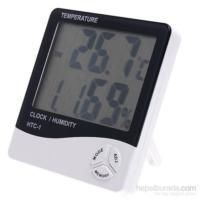 Vip Önem Nem Ölçer Higrometre Termometre Alarm Masasaati