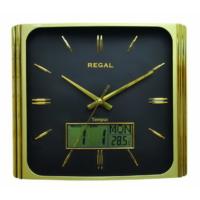 Regal 028 Gbz Isı Ölçer Takvimli Digital Analog Duvar Saati